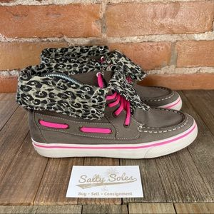 Sperry Topsider Bahama High Top Leopard Youth 4